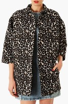 Topshop 'Lexi' Animal Pattern Coat