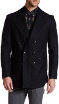 Star USA By John Varvatos Double Breasted Peak Lapel Coat