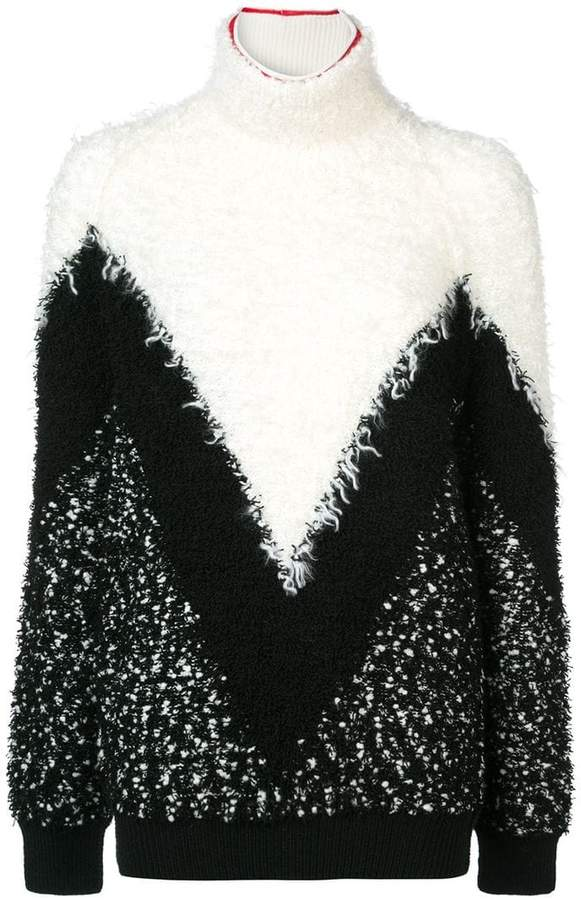 Givenchy textured chevron turtleneck sweater