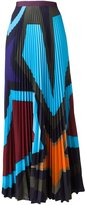 Mary Katrantzou 'Pelar' starheart pleated skirt