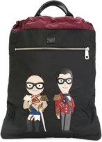 Dolce & Gabbana designer's patch backpack