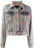 Philipp Plein paint splatter denim jacket
