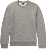 A.P.C. Loopback Stretch Cotton-Blend Jersey Sweatshirt