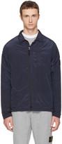 Stone Island Navy Zip Windbreaker Jacket