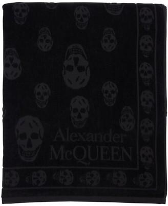 Alexander McQueen SKULL COTTON BEACH TOWEL