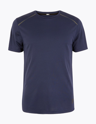 Marks and Spencer Active Reflective Trim T-Shirt