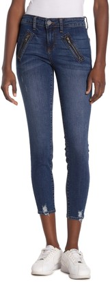 KUT from the Kloth Connie Zip Detail Ankle Jeans