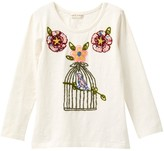 Mimi & Maggie Birdcage & Flower Tee (Little Girls & Big Girls)