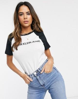 Calvin Klein logo raglan t-shirt