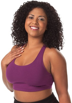 Leading Lady Apparel Women's Plus-Size Light Impact Sports Bra Full Coverage