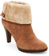 Anne Klein Natural Teamy Faux Fur-Trimmed Booties