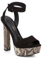 Schutz Amatitst Suede & Leather Platform Sandals