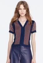 Diane von Furstenberg Paley Cropped Knit Pullover