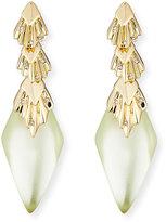 Alexis Bittar Pleated Crystal-Studded Drop Earrings