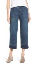 Petite Women's Caslon Wide Leg Crop Jeans