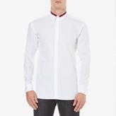 HUGO Men's Ewid Collar Detail Long Sleeve Shirt White
