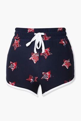 Forever 21 Paisley Star Print Ringer Shorts