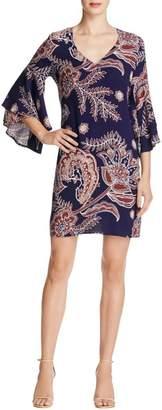 Ella Moss Women's Riya Flutter Sleeve Dress