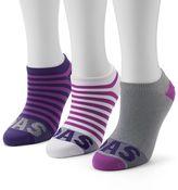 adidas Women's 3-pk. Striped Neon No-Show Socks
