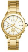 Tory Burch Collins Chronograph Bracelet Watch, Golden/White