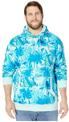 Nautica Big Tall Long Sleeve Hooded Pullover Knit (Blue) Men's Clothing