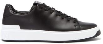 Balmain B-court Leather Trainers - Black White