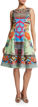 Etro Cotton Sleeveless Fit & Flare Dress