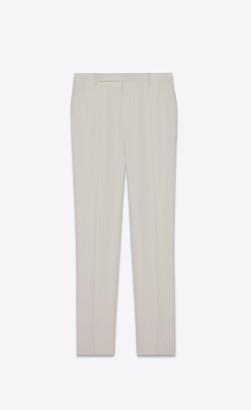 Saint Laurent Tailored Pants In Grain De Poudre Chalk 36