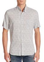 Billy Reid Tuscumbia Aquatic Print Button-Down Shirt