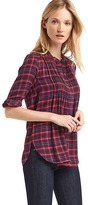 Plaid pintuck popover