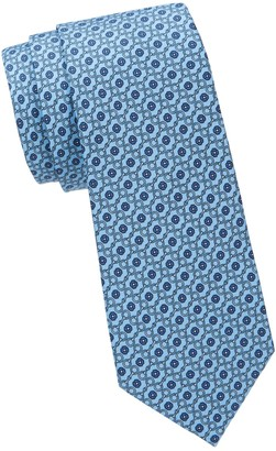 Saks Fifth Avenue Made In Italy Printed Silk Tie