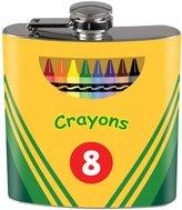 Old Glory Crayon Box Full Wrap Steel Flask