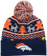 New Era Denver Broncos Christmas Sweater Pom Knit Hat