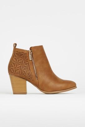 Wallis WIDE FIT Tan Shoe Boots