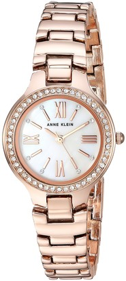 Anne Klein Women's AK/3194MPRG Swarovski Crystal Accented Rose Gold-Tone Bracelet Watch