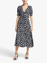 Michael Kors MICHAEL Petal Puff Sleeve Midi Dress, Blazer