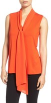 Vince Camuto Women's Tie V-Neck Sleeveless Top