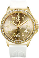 Juicy Couture Watch, Women's Jetsetter White Silicone Jelly Strap 38mm 1900966