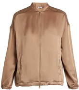 Brunello Cucinelli Satin bomber jacket