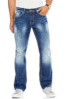 Buffalo David Bitton Six-x Distressed Slim Straight Jeans