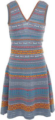 M Missoni Cutout Wool-blend Jacquard Mini Dress