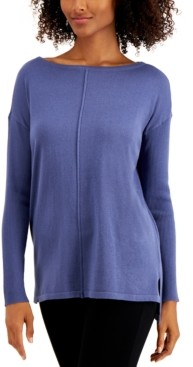 Style&Co. Style & Co Plus Size Seam-Front Tunic Sweater, Created for Macy's
