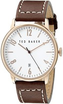 Ted Baker Modern Vintage Collection Custom Leather Strap Date Watch