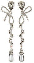 Oscar de la Renta Pavé Spiraled Crystal Bow Earrings