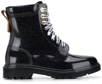 See by Chloe Varnished Lace-Up Boots