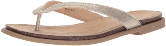 Kenneth Cole Reaction Women's Jel ing Flat Thong Sandal with Comfort Footbed Flip-Flop