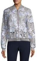 Elie Tahari Embroidered Floral Jacket