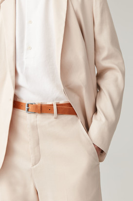 Cos Leather Belt With Contrast Buckle