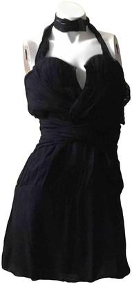 CNC Costume National Black Silk Dress for Women
