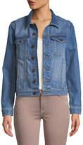 DL1961 Premium Denim Maddox Denim Jacket, Graphic Blue